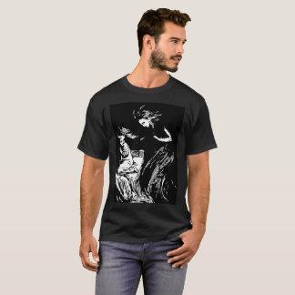 T-shirt noir de Halloween de sorcellerie d'ange