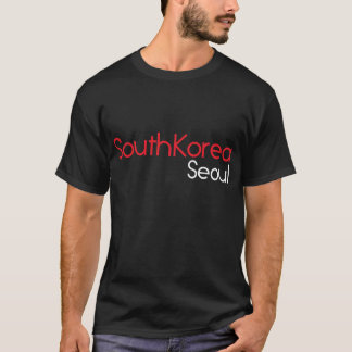T-shirt noir de la Corée du Sud Séoul