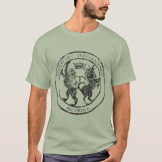 T-shirt Noir de logo du service MI-6 secret affligé