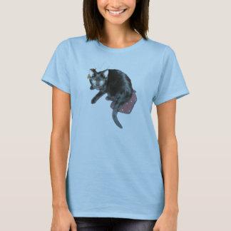 T-shirt noir de minou