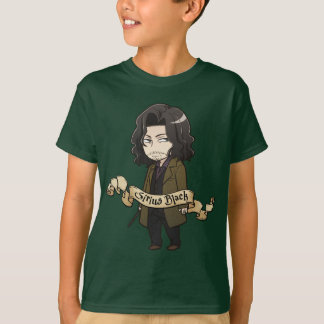 T-shirt Noir de Sirius d'Anime