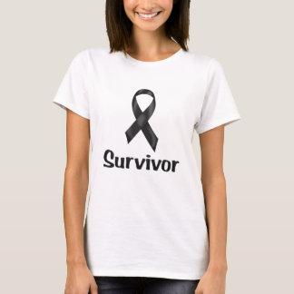 T-shirt Noir de survivant de Cancer