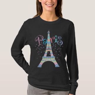 T-shirt noir de Tour Eiffel