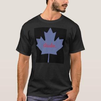 T-shirt noir de type de feuille d'érable du Canada