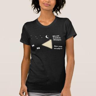 T-shirt noir de vendredi Ninja