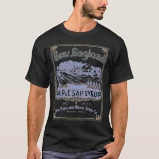 T-shirt Noir d'inv d'érable de la Nouvelle Angleterre