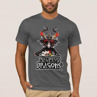 T-shirt noir du dragon aa de DM, asphalte