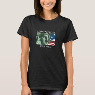 T-shirt Noir du libertaire des femmes