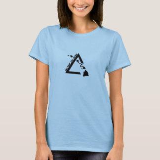 T-shirt noir du logo des femmes de base