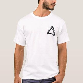 T-shirt noir du logo des hommes de base