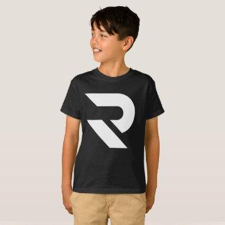 T-shirt noir et blanc de RumaTube d'enfants