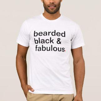 T-shirt noir et fabuleux barbus