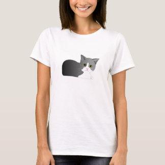 T-shirt noir et gris de maternité de chaton
