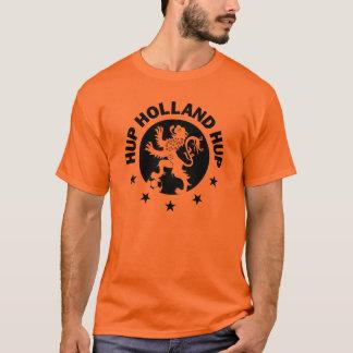 T-shirt Noir Hup Hollande - couleur Editable d'arrière -