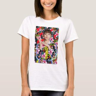 T-shirt Noir orphelin | Alison - motif floral