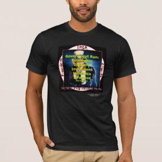 T-shirt Noir rond de trou de cheville carrée