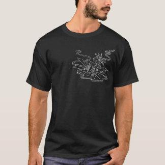 T-shirt Noir T de poissons de Cyber