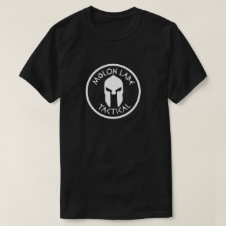 T-shirt noir tactique d'équipage de labe de molon