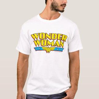 T-shirt Nom et logo de femme de merveille