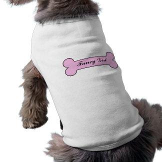T-shirt Nom personnalisé par os de fantaisie de rose de