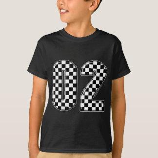 T-shirt nombre checkered de l'emballage 02 automatique