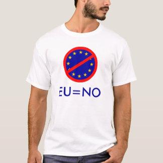 T-shirt Non à l'UE