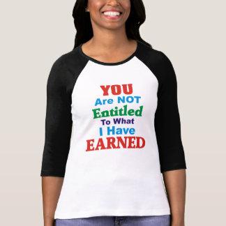 T-shirt Non eu droit