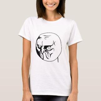 T-shirt Non ! Meme comique de rage