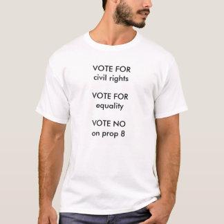 T-shirt Non sur le vote de l'appui vertical 8 pour le