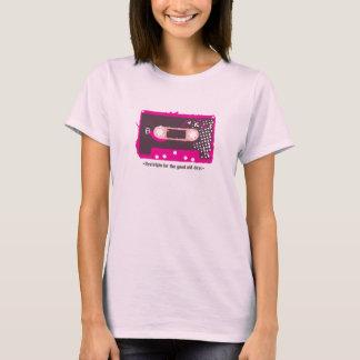 T-shirt Nostalgie for the old days - Cassette Pink