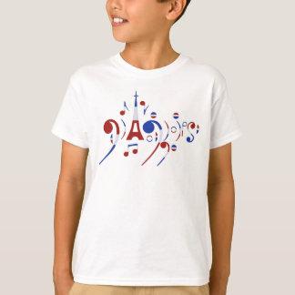 T-shirt Notes musicales de Paris