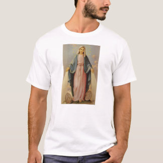 T-shirt Notre Madame de la mère bénie par chapelet Mary