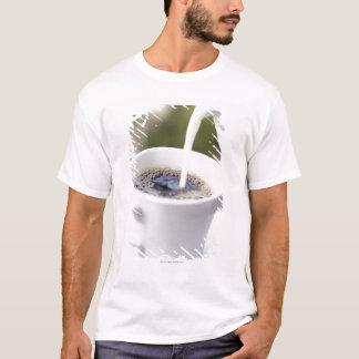 T-shirt Nourriture, nourriture et boisson, café, crème,