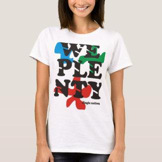 T-shirt Nous la pièce en t des femmes d'abondance par