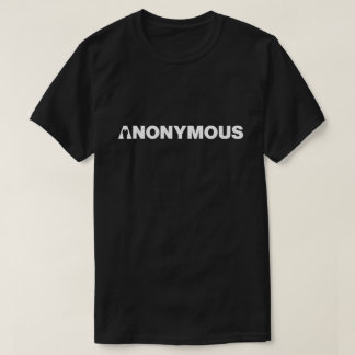 T-shirt - Nous sommes anonymes - chemise anonyme de