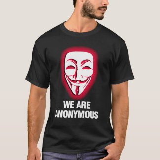 T-SHIRT NOUS SOMMES ANONYMES. (ROUGE)