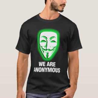 T-SHIRT NOUS SOMMES ANONYMES. (VERT)