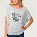 T-shirt Nouvelle Mme (Name) Est. Votre année l'épousant