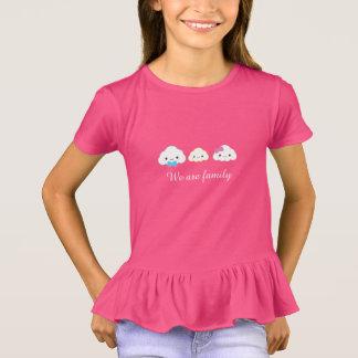 T-shirt Nuage de famille de Kawaii