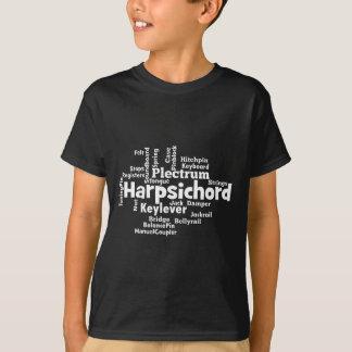 T-shirt Nuage de mot de clavecin