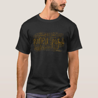 T-shirt Nuage de mot de soin de cobaye
