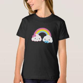 T-Shirt Nuages de couples de Kawaii avec l'arc-en-ciel