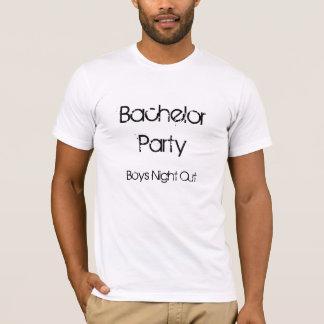 T-shirt Nuit de garçons d'enterrement de vie de jeune