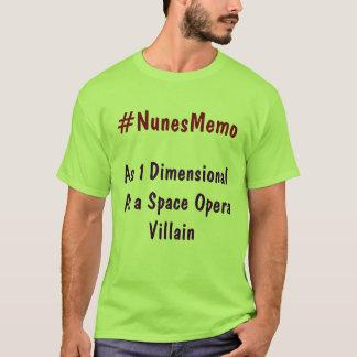 T-shirt #NunesMemo en tant que 1 dimensionnel comme villa