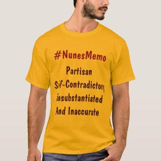 T-shirt #NunesMemo Unsubstan Auto--Contraditory partisan…