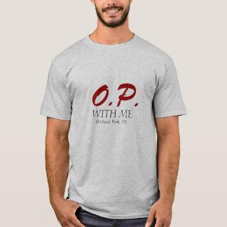 T-shirt O.P., AVEC MOI, parc de verger, NY