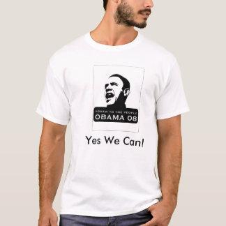 T-shirt obama, oui nous pouvons !