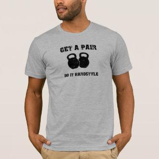 T-shirt OBTENEZ UNE PAIRE (DE KETTLEBELLS) dans le noir