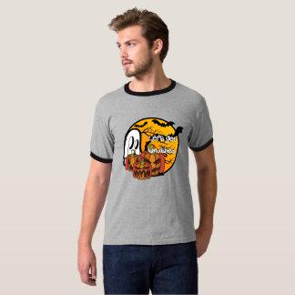 T-shirt Obtenons à citrouille heurté de fantôme Halloween