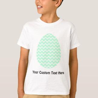 T-shirt Oeuf de pâques vert en pastel de zigzag